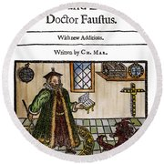 Marlowes Doctor Faustus Round Beach Towel