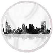 Memphis Tennessee Skyline Round Beach Towel
