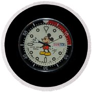 Mickey Mouse Watch Face Round Beach Towel