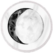 Moon Phase Round Beach Towel