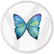 2 Morpho Aega Butterfly Round Beach Towel