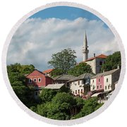 Mostar, Bosnia And Herzegovina Round Beach Towel