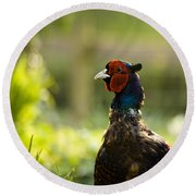 Mr Pheasant Round Beach Towel