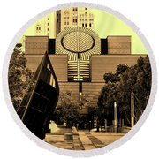 Museum Of Modern Art - San Francisco Round Beach Towel