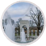 National World War II Memorial Round Beach Towel
