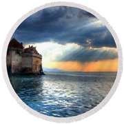 Natural Landscapes Round Beach Towel