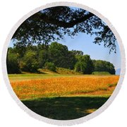 Ncdot Wildflowers Round Beach Towel