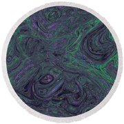 Neural Abstraction #1 Round Beach Towel