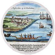 New Amsterdam Round Beach Towel