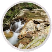New England Waterfall Round Beach Towel