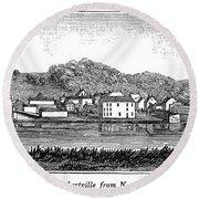 New Jersey, 1844 Round Beach Towel