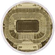 Notre Dame Stadium Round Beach Towel