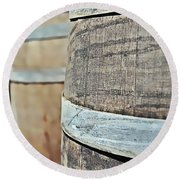 Oak Wine Barrel Round Beach Towel