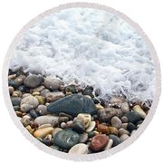 Ocean Stones Round Beach Towel by Stelios Kleanthous