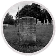 Odd Fellows Cemetery Round Beach Towel