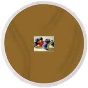 Oddball Round Beach Towel