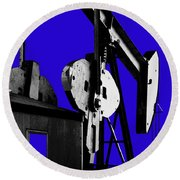 Oil Well Pump #3 Round Beach Towel