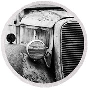 Old Farm Ford - Pov 1 Bw Round Beach Towel