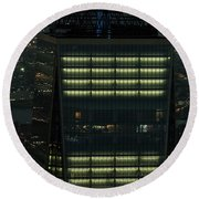 One World Trade Center In New York City  Round Beach Towel