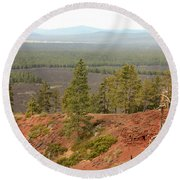 Oregon Landscape - View From Lava Butte Round Beach Towel