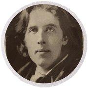 Oscar Wilde 1 Round Beach Towel