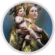 Our Lady Of Graces Round Beach Towel
