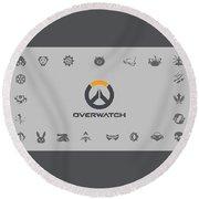 Overwatch Round Beach Towel