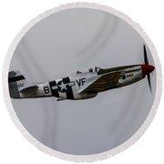 P-51d Mustang Round Beach Towel