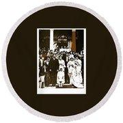 Pancho Villa's Wedding To Luz Corral On May 29 1911-2013 Round Beach Towel