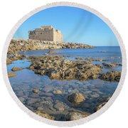Paphos - Cyprus Round Beach Towel