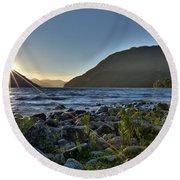 Patagonia Landscape Round Beach Towel