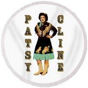 Patsy Cline Round Beach Towel