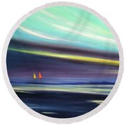 Peace Is Colorful 2 Round Beach Towel