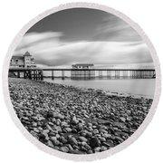 Penarth Pier 5 Round Beach Towel