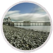 Penarth Pier 6 Round Beach Towel