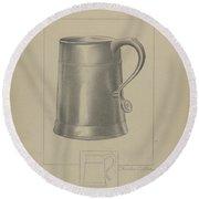 Pewter Mug Round Beach Towel
