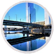 Philly Over The Schuylkill Round Beach Towel