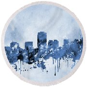 Phoenix Skyline-blue Round Beach Towel