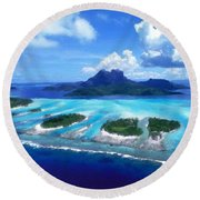 Pictures Nature Round Beach Towel