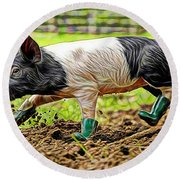 Pig Collection Round Beach Towel