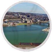 Pittsburgh Panorama Round Beach Towel