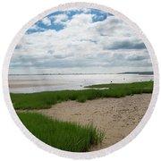 Plymouth, Massachusetts, Beach Round Beach Towel