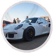 Porsche 911 Gt3rs Round Beach Towel