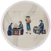 Portraying The Chinese Tea Industry Round Beach Towel