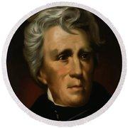 President Andrew Jackson - Four Round Beach Towel