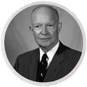 President Dwight Eisenhower - Two Round Beach Towel