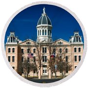 Presidio County Courthouse Round Beach Towel