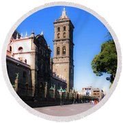 Puebla Mexico 4 Round Beach Towel
