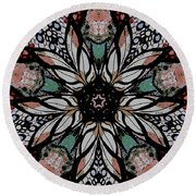 Quilted Starflower Round Beach Towel