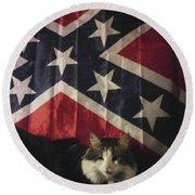 Rebel Cat Round Beach Towel